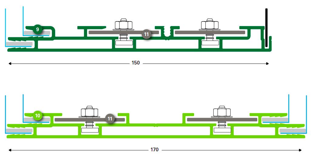 T-FLEX systém 150/1, 170/2